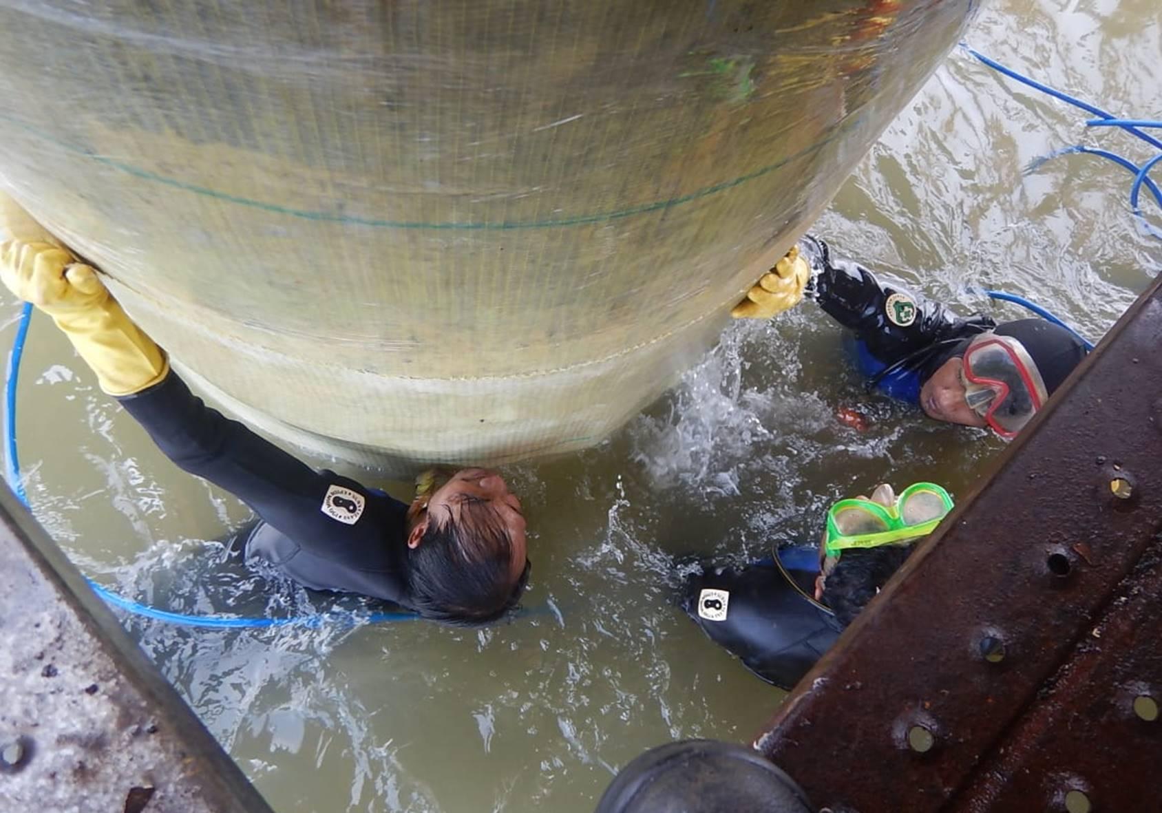 Mahita Karya Underrwater wrapping composite